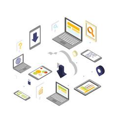 cloud computing security concept design vector image