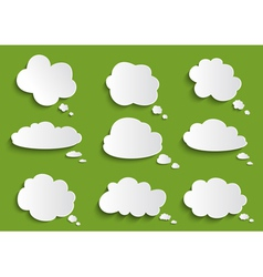 Cloud speech bubble collection vector image