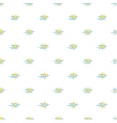 cloudy sun pattern seamless vector image