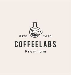 coffee lab hipster vintage logo icon vector image