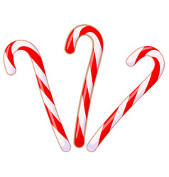 colorful cartoon candy cane set vector image