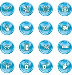 computer and internet icons vector image