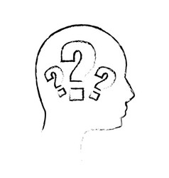 Contour human man question vector