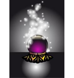 cristal ball vector image