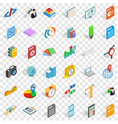 Design icons set isometric style vector