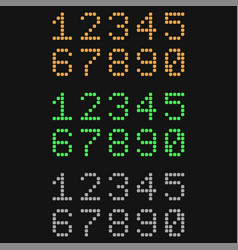 digital numbers colored signs on black background vector image