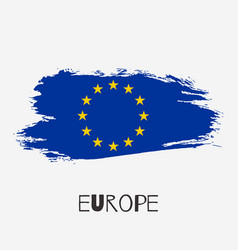 European union watercolor flag icon vector