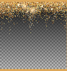 falling glitter particles on transparent backdrop vector image