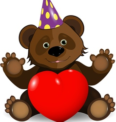 festive bear vector image
