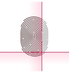 Fingerprint scan isolated on vector image