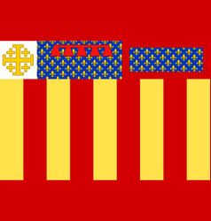 Flag of aix-en-provence in bouches-du-rhone is a vector
