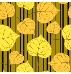 Gold Pattern with leaves and stripes-01 vector