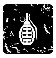 Grenade icon grunge style vector