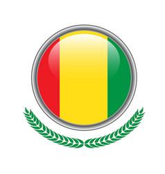 guinea flag button guinea flag icon of guinea vector image