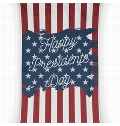 Happy Presidents Day Text on USA national Flag vector