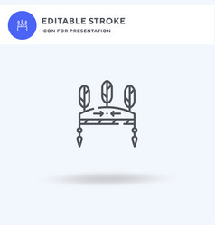 headdress icon filled flat sign solid vector image