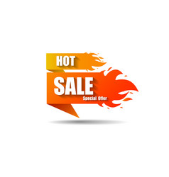 hot sale fire special price offer deal vector image