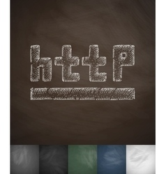 Http icon Hand drawn vector
