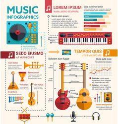 ilustration of different music insruments template vector image vector image