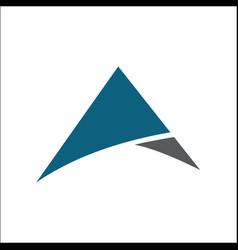 initial a triangle logo design vector image