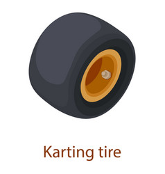 Karting tire icon isometric 3d style vector
