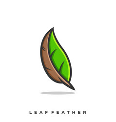 leaf feather template vector image