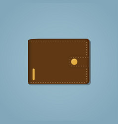 Leather brown wallet vector