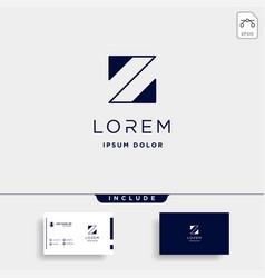 Letter z zz logo design simple vector