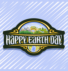 logo for earth day vector image
