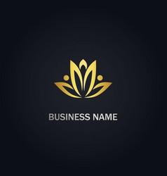 lotus flower beauty logo vector image