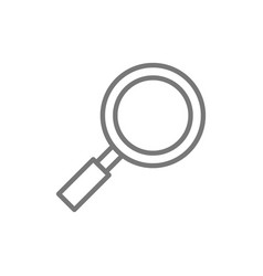 magnifying glass magnifier loupe search line vector image