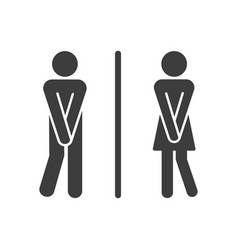 man and woman restroom symbol vector image