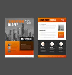 modern business corporate brochure flyer design vector image