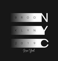 nyc modern design for t-shirt new york brooklyn vector image