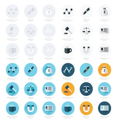 Office icons flat design set vector