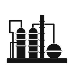 Oil refinery icon vector