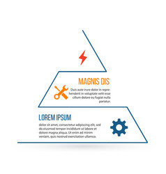 outline triangle infographic element linear flat vector image