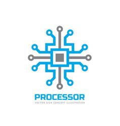 processor cpu - logo template for corporate vector image