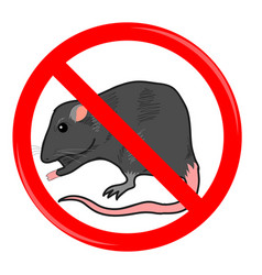 Rat stop sign vector