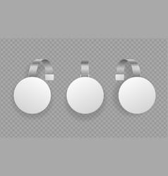 realistic detailed 3d round wobbler promotion vector image