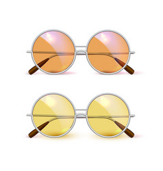 realistic eyeglasses retro circle hipster vector image
