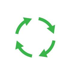 Recycle icon symbol simple design vector