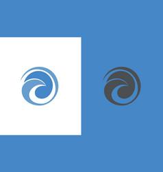 round swirl logo vector image