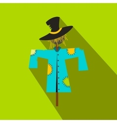 Scarecrow flat icon vector