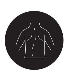 scoliosis black concept icon scoliosis vector image