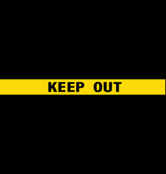 seamless pattern police yellow stripes keep out vector image