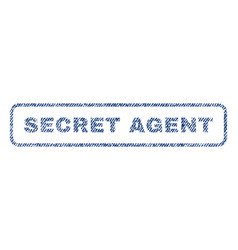 Secret agent textile stamp vector