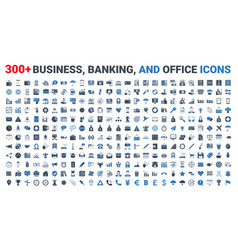 set business banking and finance icons vector image