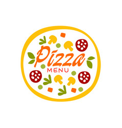 simple flat colorful pizza with vegetables vector image
