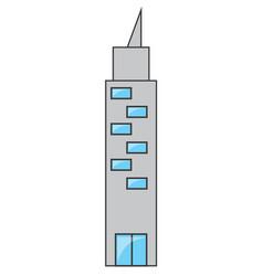 skyscraper icon image vector image